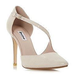 Dune - Light pink 'Constance' asymmetric strap court shoes