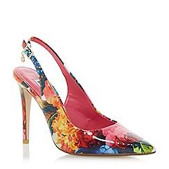 Dune - Multicoloured 'Chelsea' floral print slingback court shoe