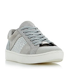 Dune - Light grey 'Egypt' contrast panel lace up trainers