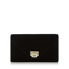 Head Over Heels by Dune - Black 'Blanda' flip lock envelope clutch bag