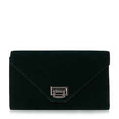 Head Over Heels by Dune - Green 'Blanda' flip lock envelope clutch bag
