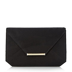 Head Over Heels by Dune - Black 'Beronika' envelope clutch bag