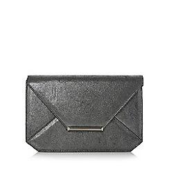 Head Over Heels by Dune - Silver 'Beronika' envelope clutch bag