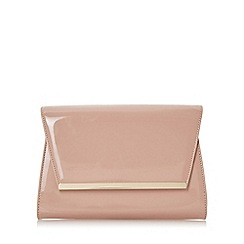 Head Over Heels by Dune - Natural 'Begonia' structured flap over clutch bag