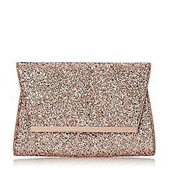 Head Over Heels by Dune - Rose 'Begonia' structured flap over clutch bag
