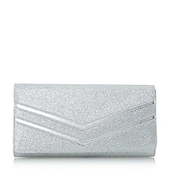 Head Over Heels by Dune - Silver 'Basmina' chevron detail clutch bag