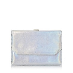 Head Over Heels by Dune - Silver 'Brogan' front pocket frame clutch bag