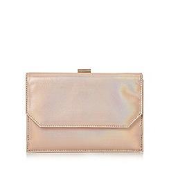 Head Over Heels by Dune - Rose 'Brogan' front pocket frame clutch bag