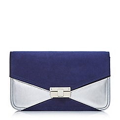 Head Over Heels by Dune - Navy 'Benna' colour block clutch bag