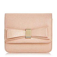 Head Over Heels by Dune - Natural 'Bedilia' bow detail box clutch bag