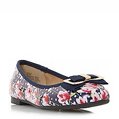 Head Over Heels by Dune - Multicoloured 'Honor' bow detail ballerina shoes