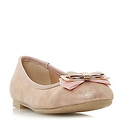 Head Over Heels by Dune - Rose 'Honor' bow detail ballerina shoes