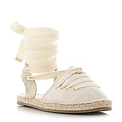 Head Over Heels by Dune - Natural 'Giah' tie detail espadrille sandals