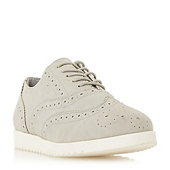Head Over Heels by Dune - Grey 'Gizmo' white outsole brogue shoes
