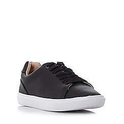 Head Over Heels by Dune - Black 'Ebeline' textured lace up trainer