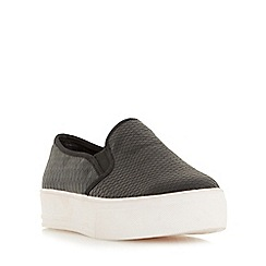 Head Over Heels by Dune - Black 'Eisla' flatform slip on trainers
