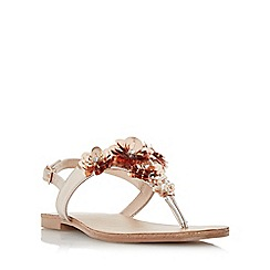 Head Over Heels by Dune - Rose 'Nadiaa' floral embellished toe post flat sandals