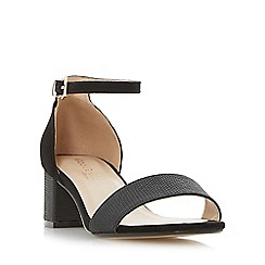 Head Over Heels by Dune - Black 'Ireena' two part block heel sandals