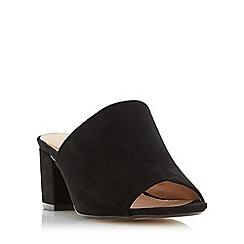 Head Over Heels by Dune - Black 'Narcissa' block heel mule sandals