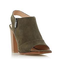 Head Over Heels by Dune - Green 'Jessica' peep toe block heel sandals
