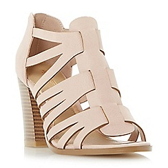 Head Over Heels by Dune - Natural 'Jasinda' multi strap caged sandals