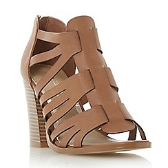 Head Over Heels by Dune - Tan 'Jasinda' multi strap caged sandals