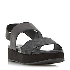 Head Over Heels by Dune - Black 'keddi' double strap flatform sandals