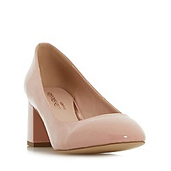 Head Over Heels by Dune - Natural 'Alisia' flared block heel court shoes