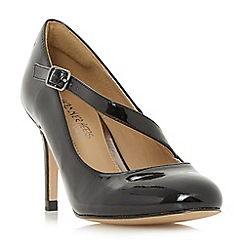 Head Over Heels by Dune - Black 'Anitta' asymmetric strap court shoes