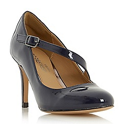 Head Over Heels by Dune - Navy 'Anitta' asymmetric strap court shoes