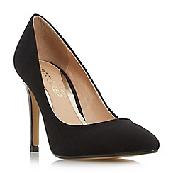 Head Over Heels by Dune - Black 'Alice' pointed toe high heel court shoe