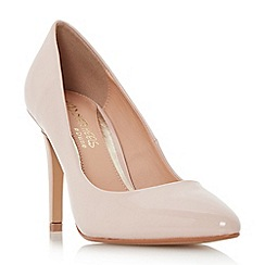 Head Over Heels by Dune - Natural 'Alice' pointed toe high heel court shoe