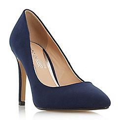 Head Over Heels by Dune - Navy 'Alice' pointed toe high heel court shoe