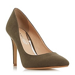 Head Over Heels by Dune - Green 'Alice' pointed toe high heel court shoe