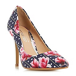 Head Over Heels by Dune - Multicoloured 'Aine' pointed toe high heel court shoes