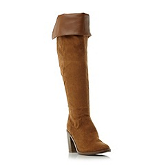 Head Over Heels by Dune - Taupe 'Trin' heeled over the knee boots