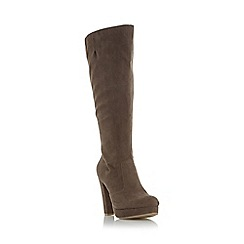 Head Over Heels by Dune - Taupe 'Sonni' platform knee high boot