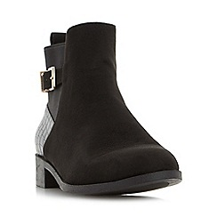 Head Over Heels by Dune - Black 'Pippa' buckle detail ankle boot