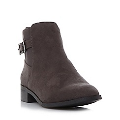 Head Over Heels by Dune - Grey 'Pippa' buckle detail ankle boot
