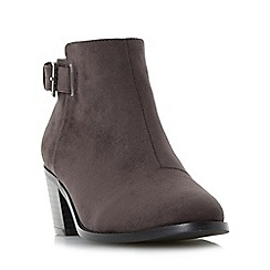 Head Over Heels by Dune - Grey 'Priyanka' buckle strap block heel ankle boot