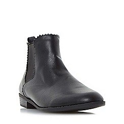 Head Over Heels by Dune - Black 'Paten' almond toe chelsea ankle boot