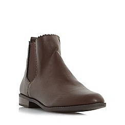 Head Over Heels by Dune - Brown 'Paten' almond toe chelsea ankle boot