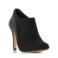 Head Over Heels by Dune - Black 'Opera' mixed material heeled ankle boot