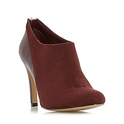 Head Over Heels by Dune - Dark red 'Opera' mixed material heeled ankle boot