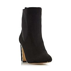 Head Over Heels by Dune - Black 'Odilia' metallic heel insert chelsea boot
