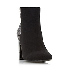 Head Over Heels by Dune - Silver 'Odessa' heeled ankle boot