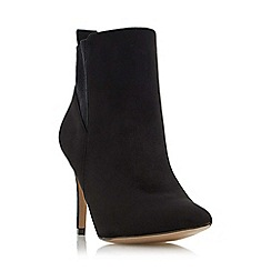 Head Over Heels by Dune - Black 'Orlagh' stretch detail high heel ankle boot