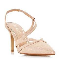Head Over Heels by Dune - Natural 'Chloe' asymmetric pointed toe court shoes