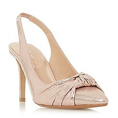 Dune - Rose 'Charlise' knot detail sling back court shoes