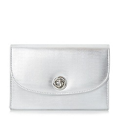 Roland Cartier - Silver 'Brissa' circular turn lock clutch bag